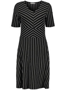 Geisha Jurk DRESS BI COLOR STRIPED 07037 60 Black/White