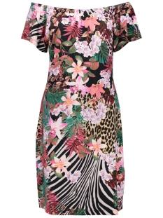 Geisha Jurk MAY DRESS ELASTIC NECK SS 07042 60 000904 Multi Fuchsia