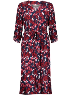 dress long aop with strap ls 07131 11 geisha jurk red/navy/white