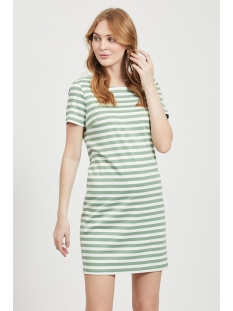 vitinny new s/s dress - noos 14032604 vila jurk loden frost/snow white