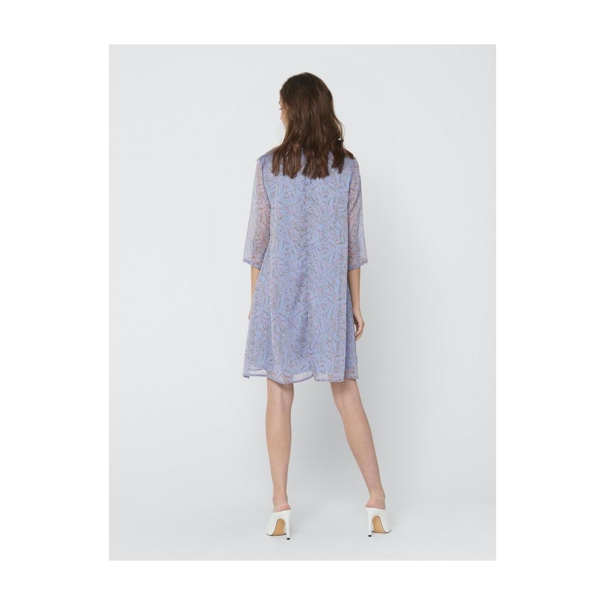 jdynelly shirt dress wvn exp 15218569 jacqueline de yong jurk vista blue/branch flo