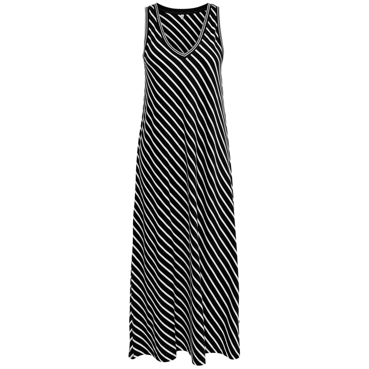 onlmarie life s/l v-neck dress jrs 15204358 only jurk black/cloud dancer