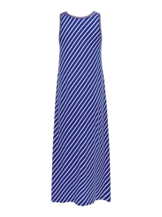 onlmarie life s/l v-neck dress jrs 15204358 only jurk mazarine blue/cloud dancer