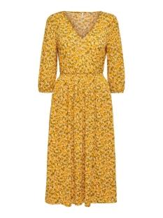 Only Jurk ONLPELLA 3/4 V-NECK DRESS JRS 15207661 Golden Yellow/FLOWERS  2