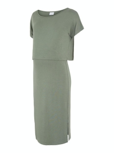 Mama-Licious Positie jurk MLJILL JUNE S/S JERSEY MIDI DRESS 2 20011414 Sea Spray/MELANGE