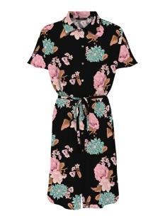 Only Jurk ONLNOVA LUX S/S SHIRT DRESS AOP WVN 15207586 Black/FIELD OF FLOWERS