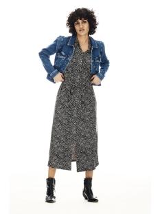 midi jurk met all over print s00081 garcia jurk 3258 smoke gray