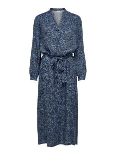 Jacqueline de Yong Jurk JDYPEARL L/S MIDCALF DRESS WVN 15209002 Black/ LICHTEN BLUE