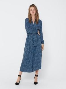 jdypearl l/s midcalf dress wvn 15209002 jacqueline de yong jurk black/ lichten blue