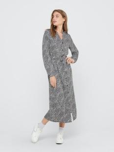 jdypearl l/s midcalf dress wvn 15209002 jacqueline de yong jurk black/ cloud dancer