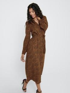 Jacqueline de Yong Jurk JDYPEARL L/S MIDCALF DRESS WVN 15209002 Black/ LEATHER BROWN