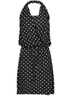 IZ NAIZ Jurk HALTER DRESS 3684 DOTT BLACK