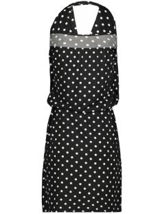 halter dress 3684 iz naiz jurk dott black