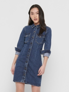 Jacqueline de Yong Jurk JDYSANNA DENIM DRESS MIX DNM NOOS 15197082 Medium Blue Denim