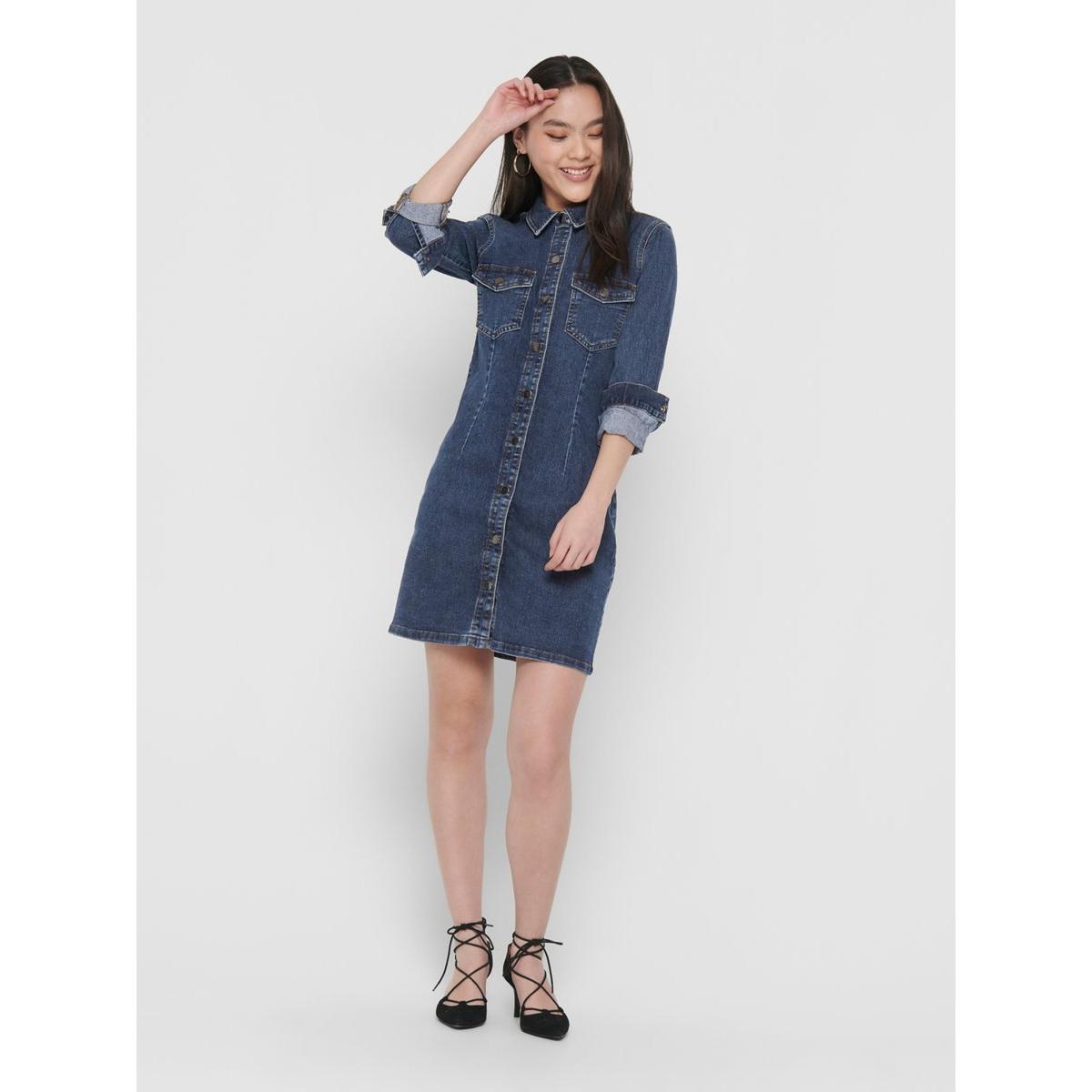 jdysanna denim dress mix dnm noos 15197082 jacqueline de yong jurk medium blue denim