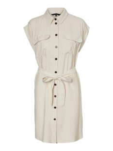 Vero Moda Jurk VMVENUS WIDE S/L SHORT SHIRT DRESS 10231935 Birch