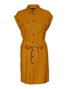 Vero Moda Jurk VMVENUS WIDE S/L SHORT SHIRT DRESS 10231935 Buckthorn Brown