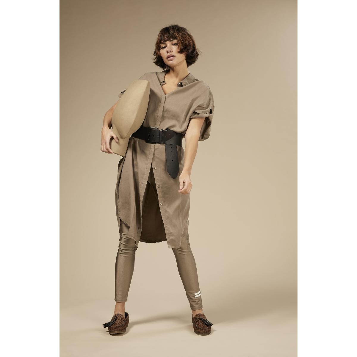 shirt dress 20 411 0203 10 days jurk dark safari