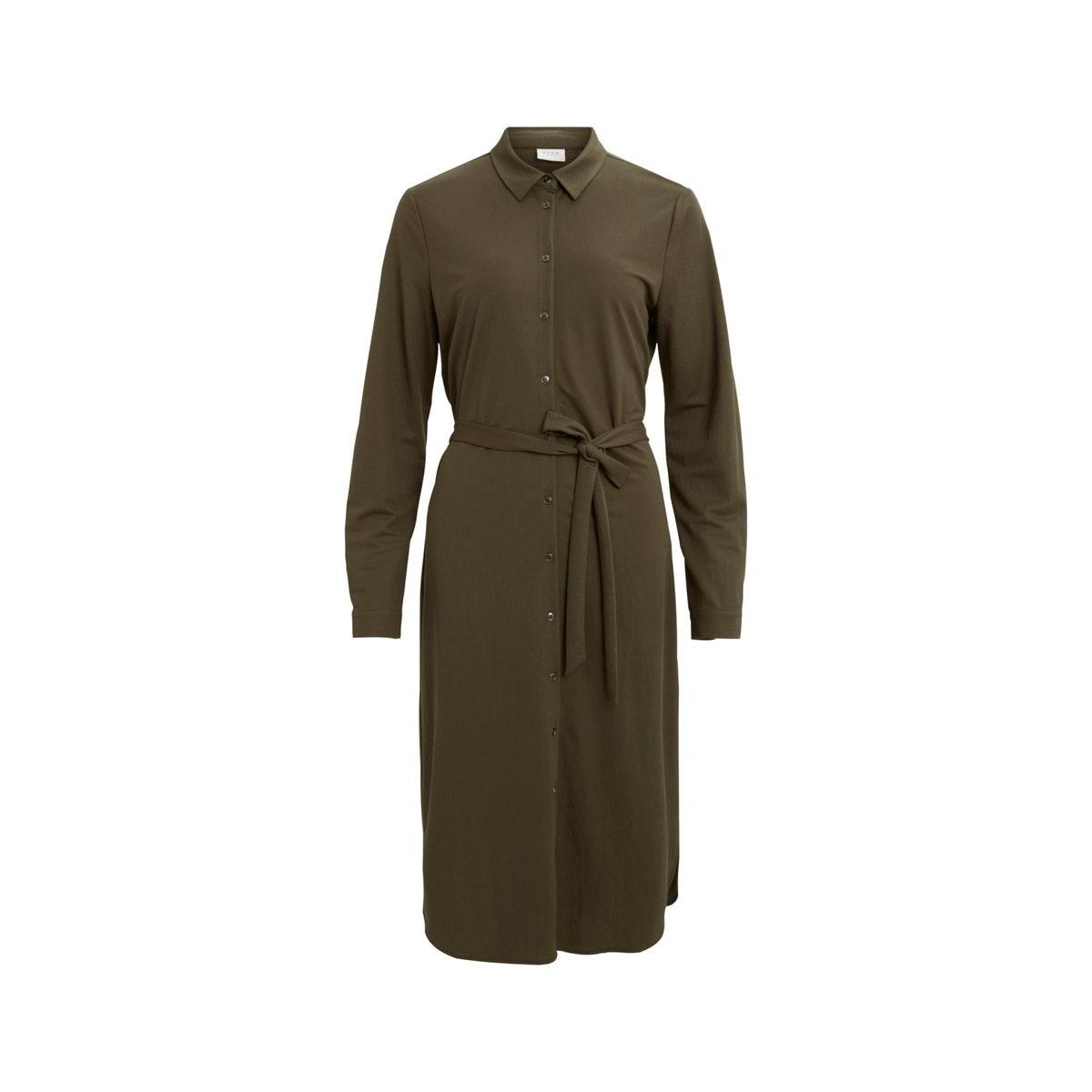 visafina midi l/s dress - noos 14056555 vila jurk forest night