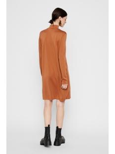 pcbamala t-neck ls dress noos bc 17106018 pieces jurk mocha bisque/cp