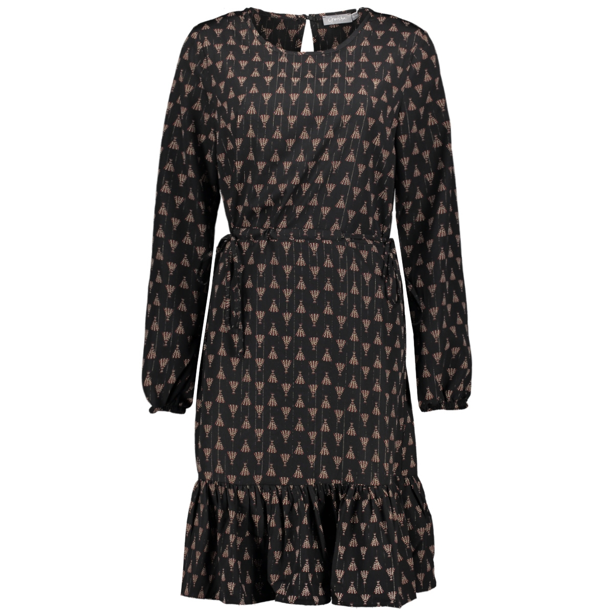 dress 07644 20 geisha jurk black/red combi
