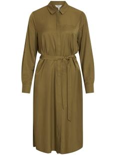 objeileen l/s shirt dress noos 23032993 object jurk burnt olive