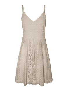 Vero Moda Jurk VMHONEY LACE PLEATED SINGLET DRESS 10220925 Oatmeal