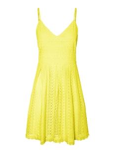 Vero Moda Jurk VMHONEY LACE PLEATED SINGLET DRESS 10220925 Pale Banana