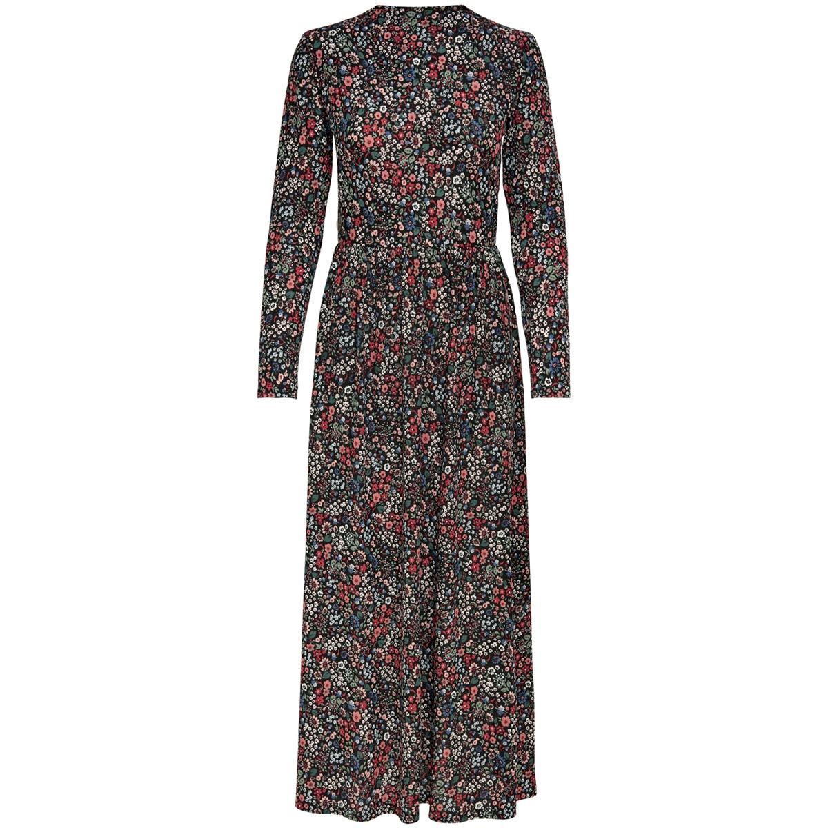jdysvan l/s dress jrs 15208204 jacqueline de yong jurk black/red flower