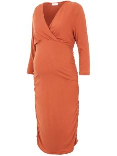 Mama-Licious Positie jurk MLAIMY TESS 3/4 JERSEY ABK DRESS 2F 20011538 Auburn