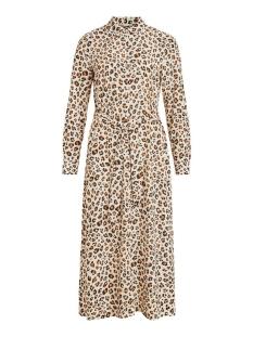 Vila Jurk VIMASK L/S ANKLE SHIRT DRESS/L 14061026 Birch/HAVIA