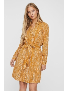 Vero Moda Jurk VMVIBE LS SHORT SHIRT DRESS WVN GA 10234487 Buckthorn