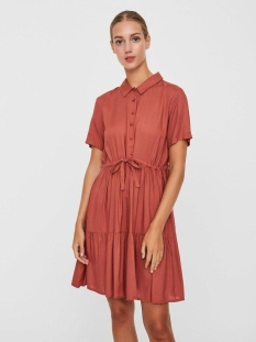 Vero Moda Jurk VMDOLCA SS SHORT SHIRT DRESS WVN DA 10227667 Marsala