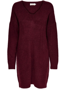 Only Jurk ONLJADA L/S DRESS KNT NOOS 15211321 Pomegranate/W Melange