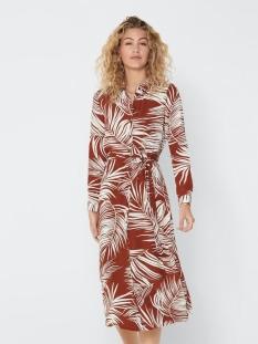 ONLAUGUSTINA 3/4 SHIRT DRESS WVN 15205136 Burnt Henna/PALM LEAF