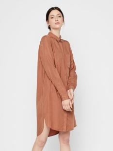 Pieces Jurk PCWHY LS LYOCELL SHIRT DRESS-BI/NOO 17106390 Mocha Bisque