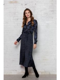 DRESS LONG FLOWERS ZEBRA 07636 Black/Blue Combi