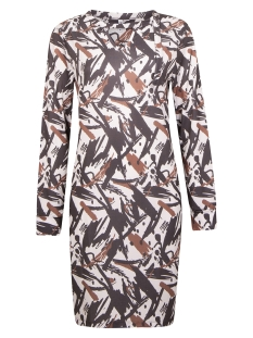 BELLE SPLENDOUR DRESS 204 OFF WHITE/ COGNAC