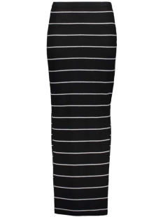 onlabbie stripe long slit skirt 15112080 only rok black/lgm wide