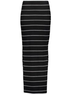 onlabbie stripe long slit skirt 15112080 only rok black/lgm wide