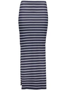 onlAbbie Stripe Long Slit Skirt 15112080 night sky/stripes