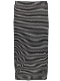 onlabbie stripe calf skirt 15112081 only rok black/lgm