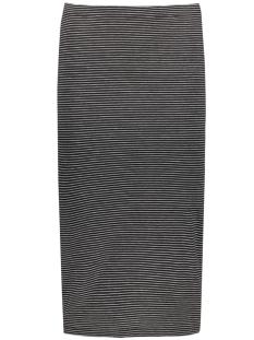 Only Rok onlAbbie Stripe Calf Skirt 15112081 black/lgm