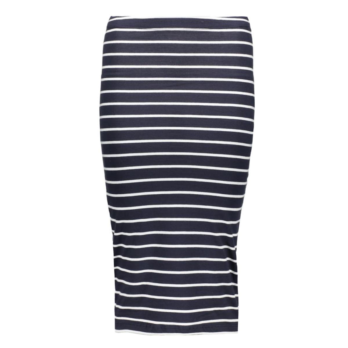 onlabbie stripe calf skirt 15112081 only rok night sky/stripes