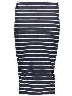 onlAbbie Stripe Calf Skirt 15112081 night sky/stripes