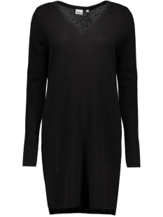 objnadine l/s knit dress noos 23023212 object jurk black