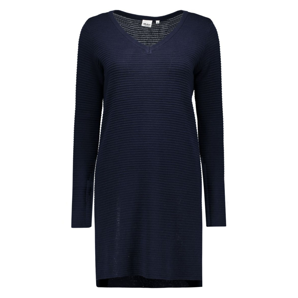 objnadine l/s knit dress noos 23023212 object jurk sky captain