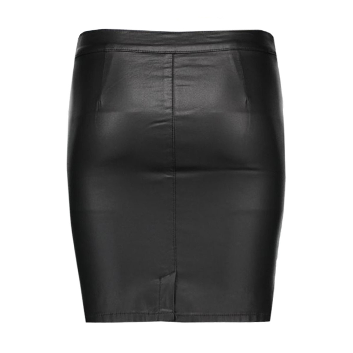 vicomma coated skirt-noos 14036133 vila rok black