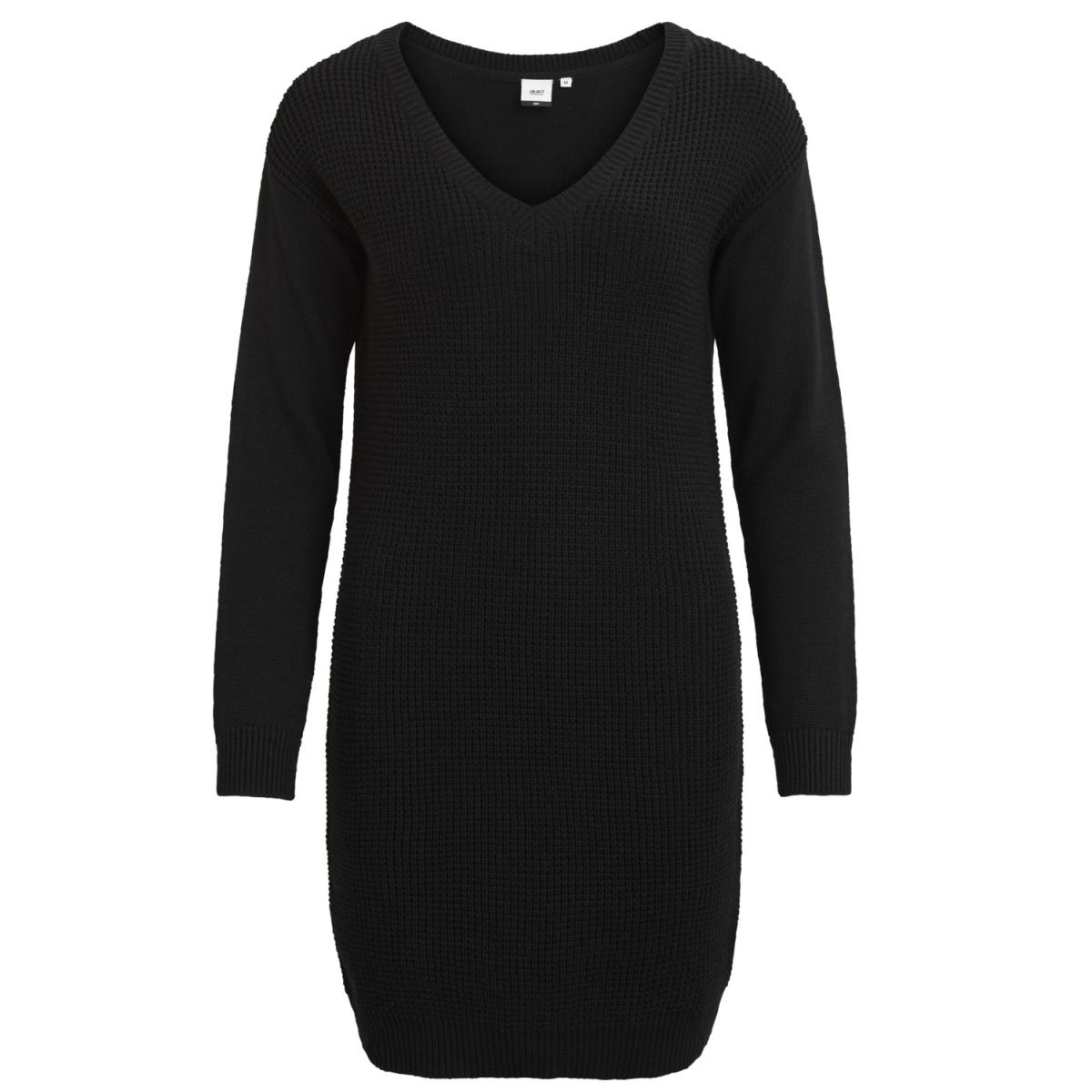 objdeah l/s knit dress 86 .i 23023274 object jurk black