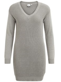 objdeah l/s knit dress 86 .i 23023274 object jurk light grey melange